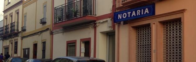 Fachada de la Notaría de Alcalá de Guadaíra