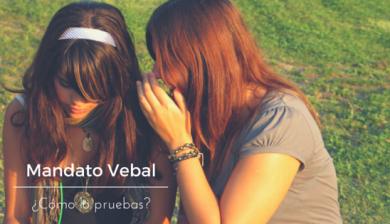¿Sabes qué es el mandatario verbal?