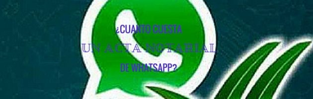 acta notarial de WhatsApp