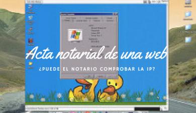 actas notariales e IP